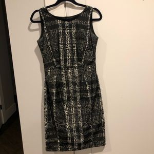 Burberry check print dress.